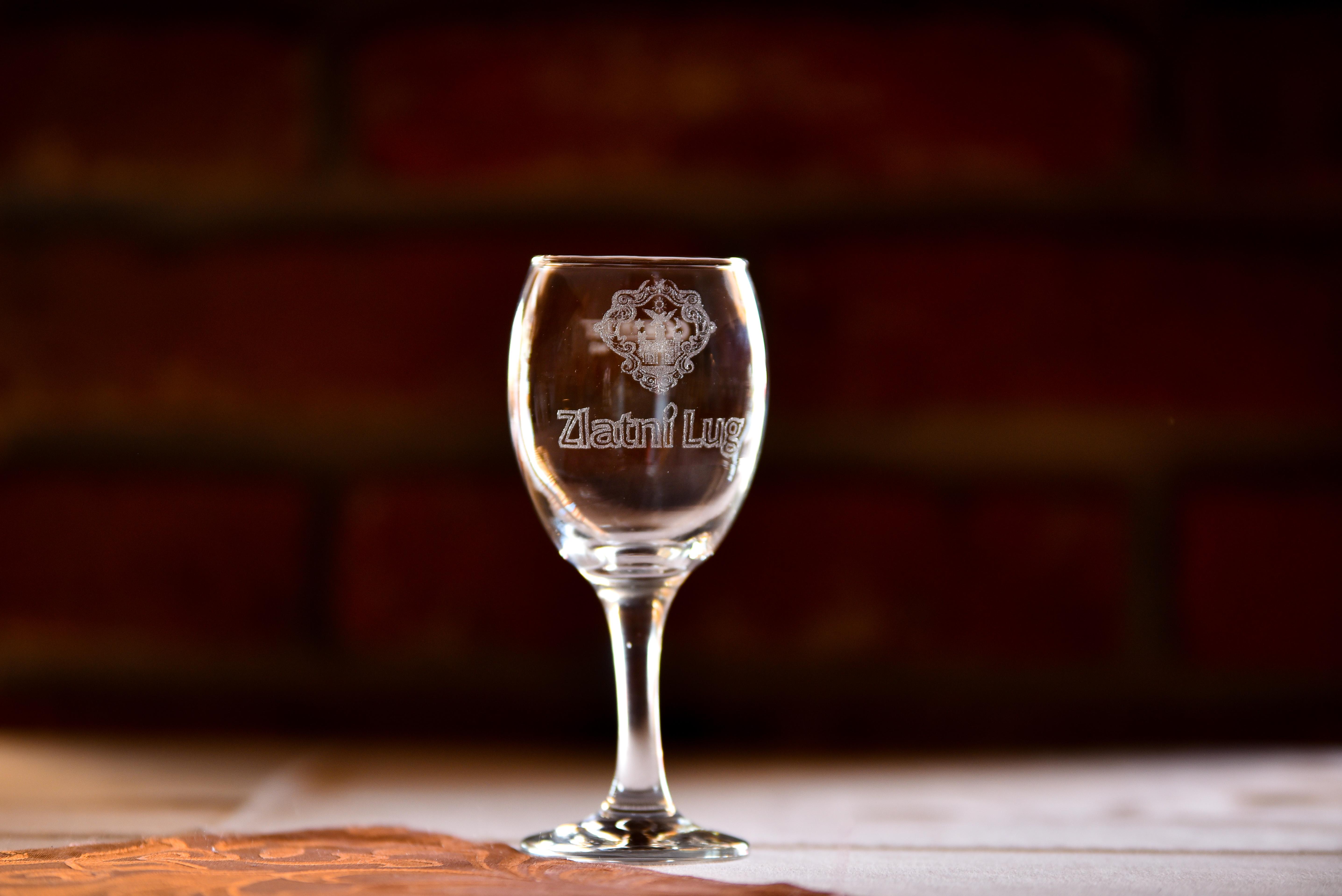 Čaša s logom Zlatnog Luga 0,2 l
